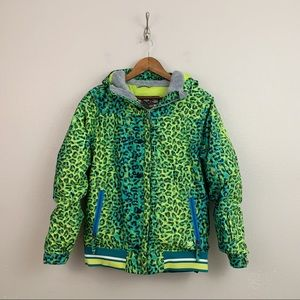 686 Authentic Prep Insulated Green Leopard Jacket